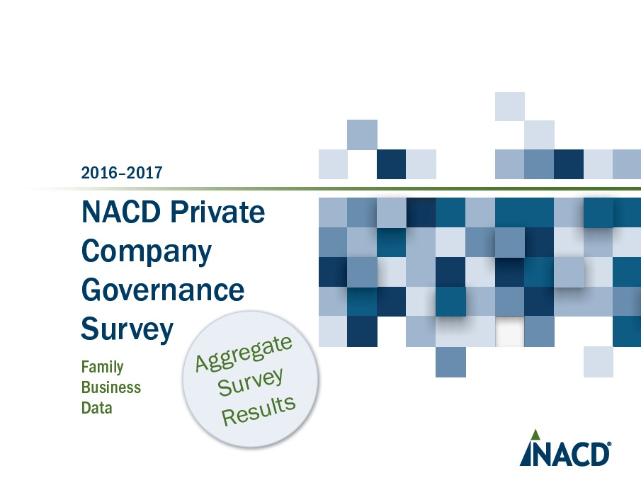 2016-2017 NACD Private Company Data Summary: Family Business Boards Cover