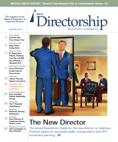 Directorship Magazine April/May 2010 Issue