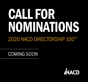 Reserve Your Table for 2020 NACD Directorship 100