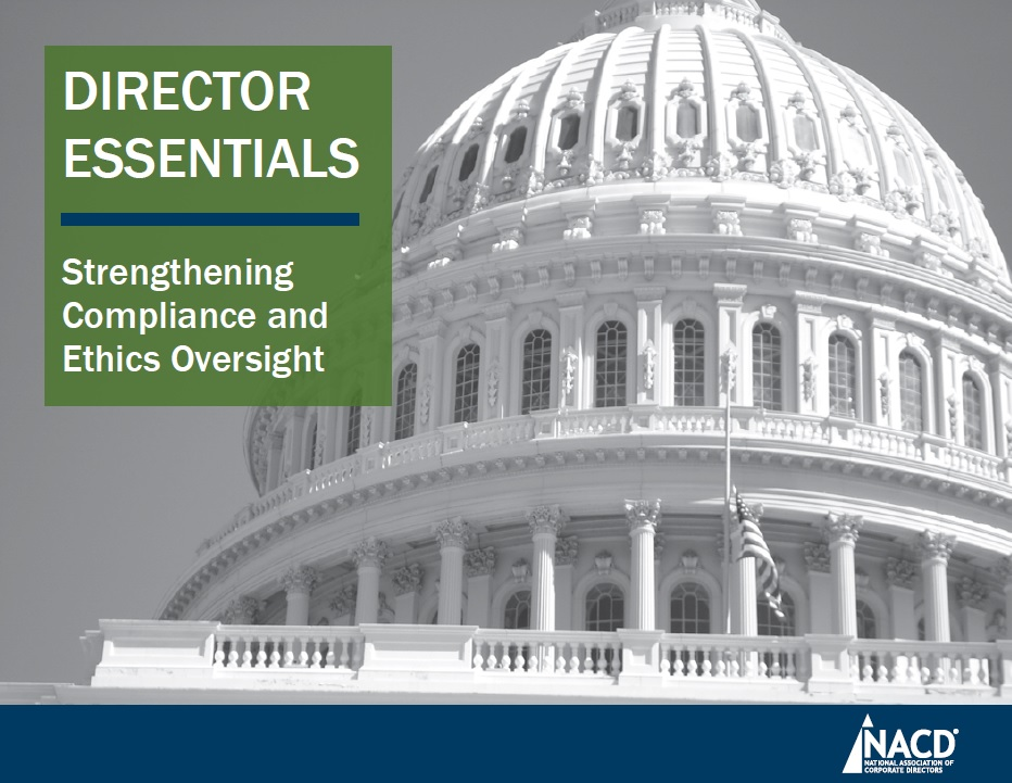 Director Essentials: Strengthening Compliance and Ethics Oversight Cover