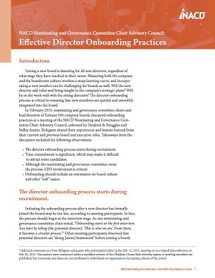 Effective Director Onboarding Practices Cover