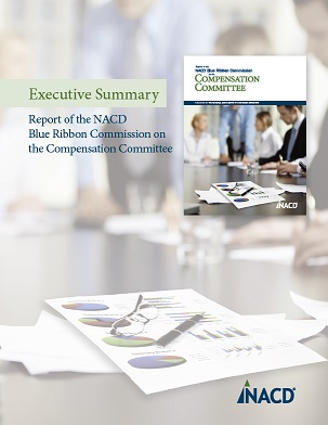 NACD Blue Ribbon Commission on the Compensation Committee: Executive Summary Cover