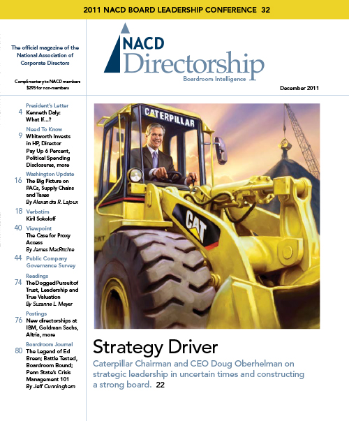 Directorship Magazine December 2011 Issue