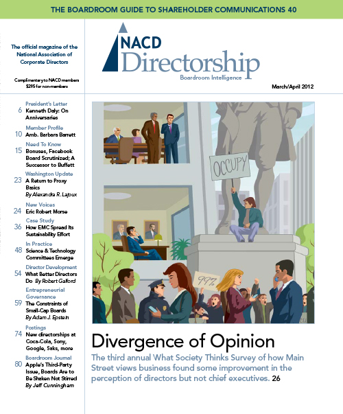 Directorship Magazine March/April 2012 Issue