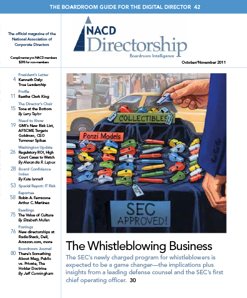 Directorship Magazine October/November 2011 Issue