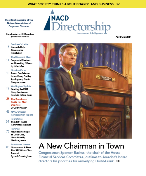 Directorship Magazine April/May 2011 Issue