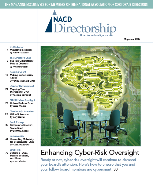 Directorship Magazine May/June 2017 Issue