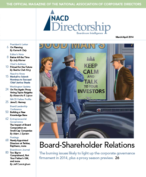 Directorship Magazine March/April 2014 Issue