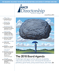 Directorship Magazine January/February 2018 Issue