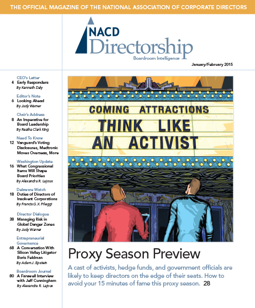 Directorship Magazine January/February 2015 Issue