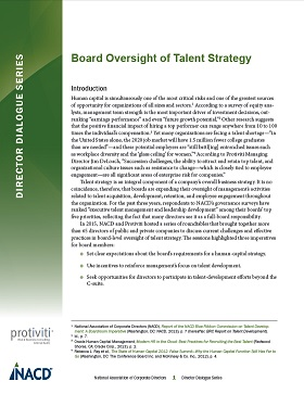 Director Dialogue: Board Oversight of Talent Strategy Cover