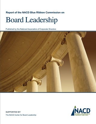 Report of the NACD Blue Ribbon Commission on Board Leadership Cover