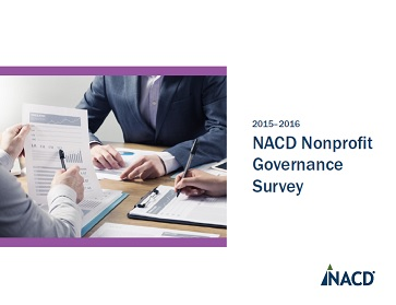 2015-2016 NACD Nonprofit Governance Survey Cover