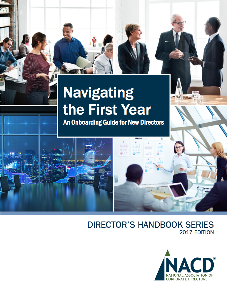 Navigating the First Year: An Onboarding Guide for New Directors Cover