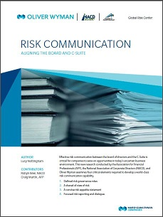 Risk Communication: Aligning the Board and C-Suite Cover