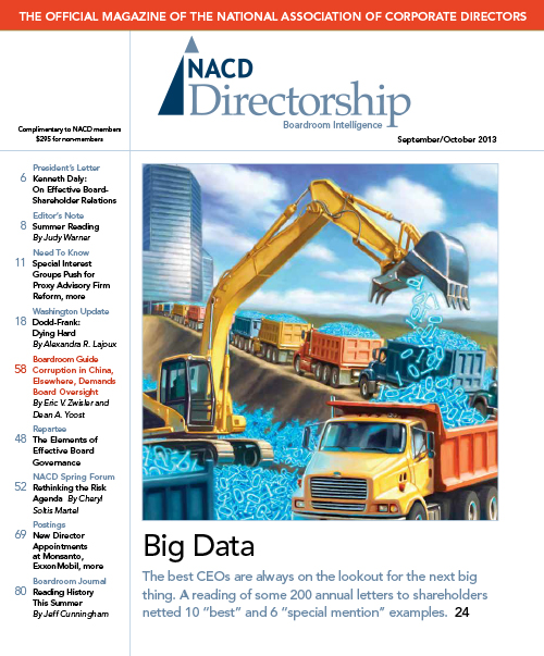 Directorship Magazine September/October 2013 Issue