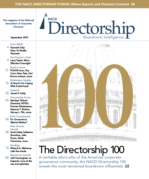 Directorship Magazine September 2010 Issue