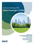 Governance Challenges: Board Oversight of ESG
