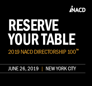 Reserve Your Table for 2018 NACD Directorship 100