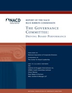 BRC Governance Committee: Driving Board Performance Cover